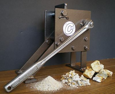 Rock Crusher Hand Operated Jaw Type. Geological Assay Frit Pick The Crunch