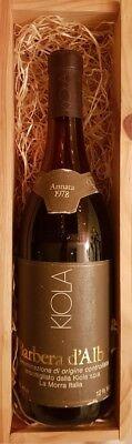 KIOLA Annata 1978 Barbera d'Alba 750ml 12%Vol ungeöffnet Rotwein Holzschachtel