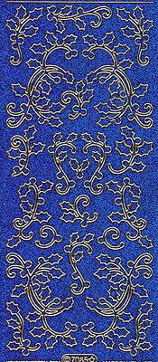 Micro-Glittersticker-Ornamente-Ilex-blau-gold-7085gblg