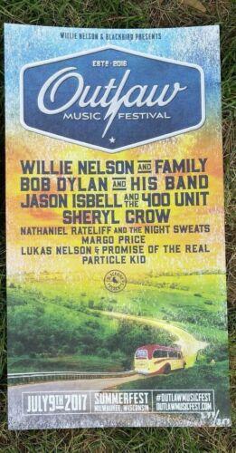 Willie Nelson Bob Dylan Jason Isbell Nathaniel Rateliff Poster 2017 Outlaw Fest