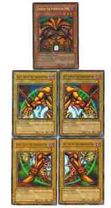 YuGiOh-EXODIA-THE-FORBIDDEN-ONE-5-Card-SET-w-1st-Ed-GOLD-Holo-HEAD-Arms-Legs