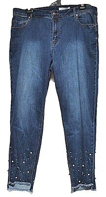 TS pants TAKING SHAPE plus sz S - M / 18 My Pearl Jeans skinny stretch denim NWT Ts Denim Pant