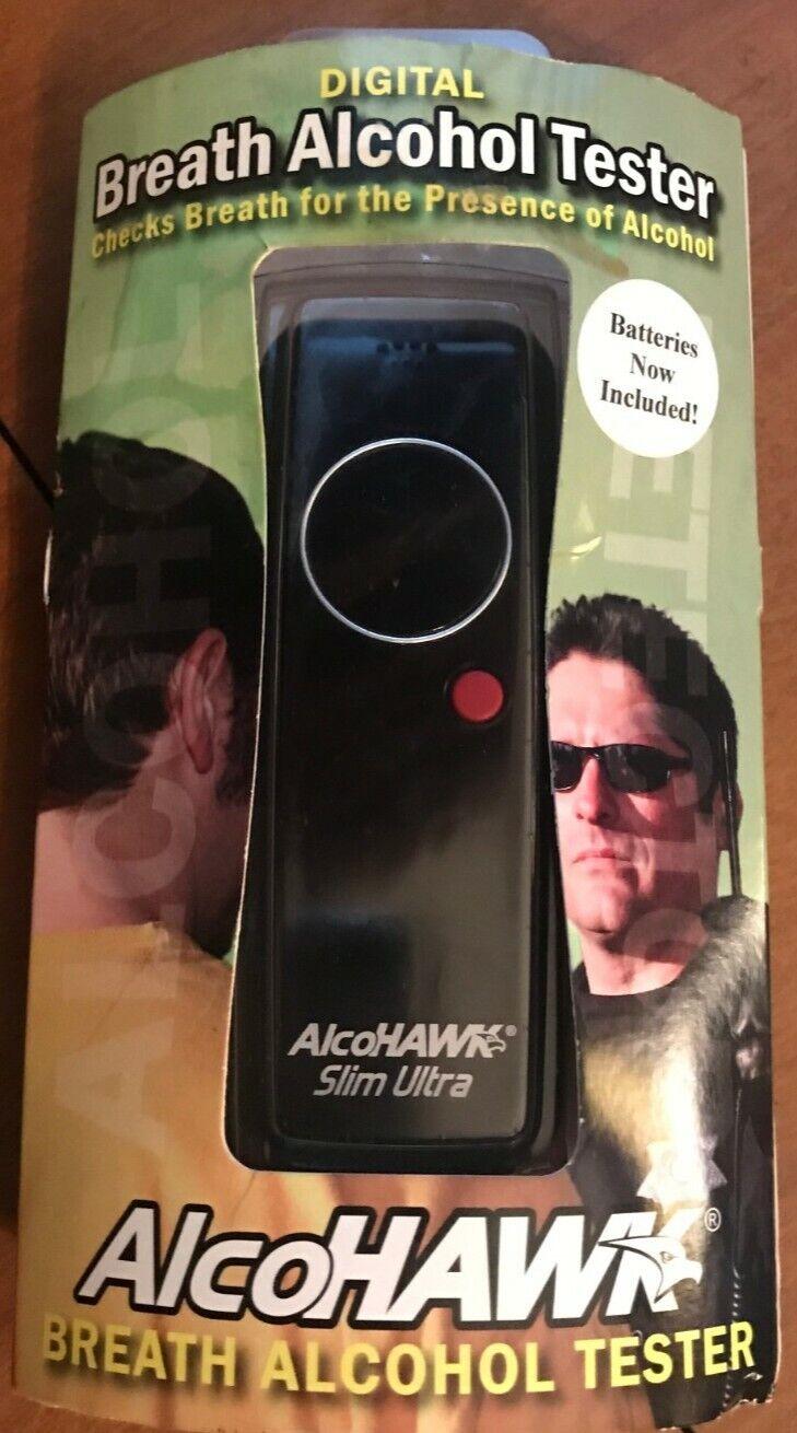 Brand New AlcoHAWK Slim Ultra Digital Breathalyzer
