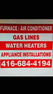 Heating/ cooling/ appliances/ gas work/ main water shut off