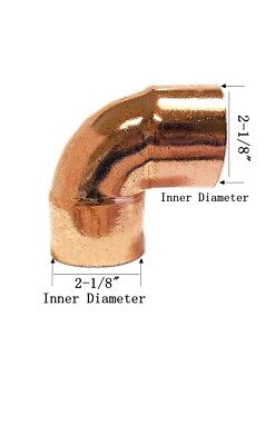 Libra Supply 2 Inch 2 2-inch 90 Degree Copper Pressure Elbow Cxc Fittings