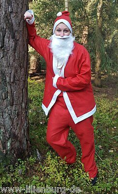 5tlg. Kostüm Anzug Verkleidung Weihnachtsmann Nikolaus Santa Claus Nickolaus NEU