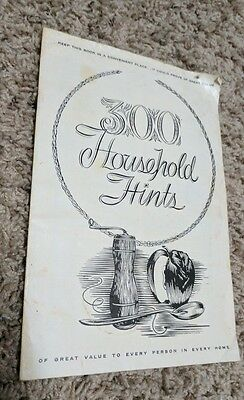 Antique State Farm Insurance Advertising Booklet 300 Household Hints
