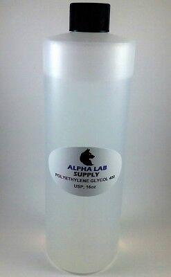 Polyethylene Glycol 400 Usp Grade 16oz - Free Shipping