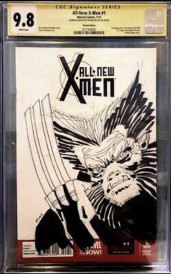 FRANK MILLER ORIGINAL Sketch Art CGC 9.8 All-New X-men #1 LOW STARTING