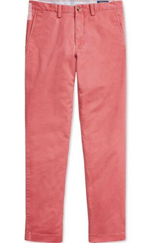 Polo Ralph Lauren Mens The Polo Chino Pants 34×32 Red Classic Fit Cotton Clothing, Shoes & Accessories