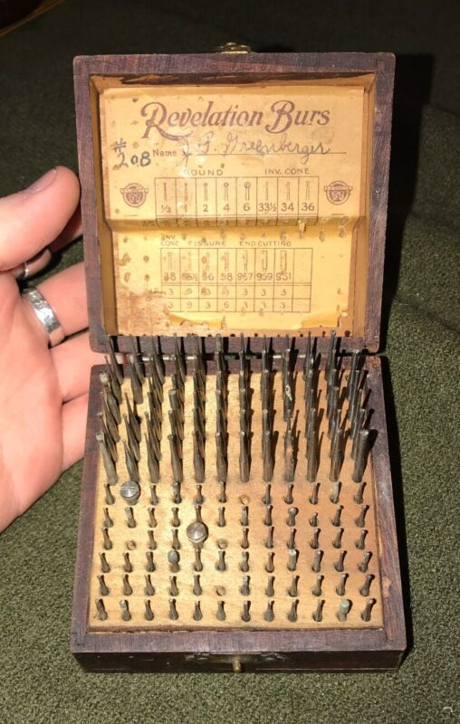 Vintage Antique Revelation Burs Jeweler Dentist Drilling Engraving Original Box