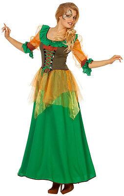 Herbstliche Waldfee Willow Märchen Kostüm NEU - Damen Karneval Fasching (Herbst Kostüme)