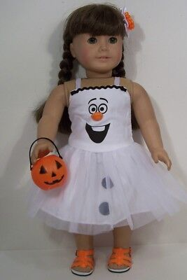 Frozen Olaf Snowman Halloween Costume Doll Clothes For 18