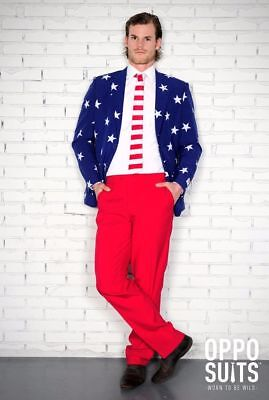 Oppo Suits Halloween ( OPPO SUITS 3PC Stars Stripes Men's Costume July 4th, Halloween, NIB, Size)