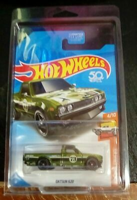2018 Hotwheels Datsun 620 Truck Super Treasure Hunt Shipped In Protecto Pack!