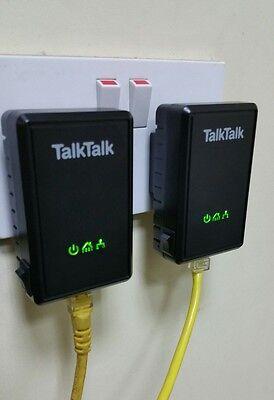 2 x D-Link TalkTalk Powerline DHP-300AV, Virgin BT, Sky, HomePlug + 2 Ethernet.