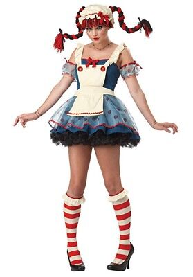 New Rag Doll Costume for Teen/Adult size TEEN, California Costumes  - Doll Costumes For Adults