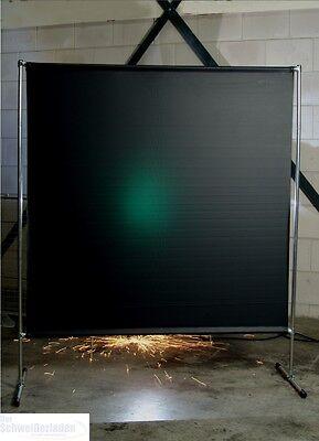 Stellwand Schweißschutzwand Schweißervorhang 2 x 2 m grün Schweißvorhang