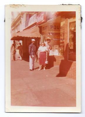 Black Man Wearing Sombrero & White Woman Street Scene Photo @1960](Black And White Sombrero)