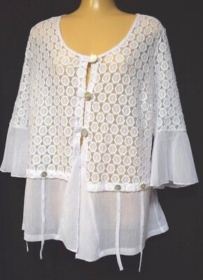 TS cardy TAKING SHAPE plus sz XXS / 12 All About It Cardi lace sheer NWT rp$130!
