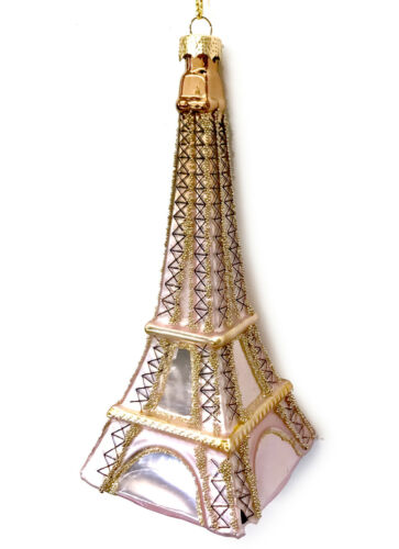 Rose Gold Pink Eiffel Tower Christmas Ornament Paris France Travel R