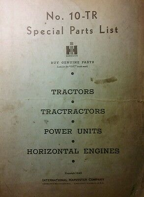 Ih International Tractor Tractractor Farmall Deering Engine Dealer Parts Manual