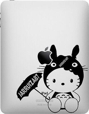 HELLO KITTY IN TOTORO COSTUME iPAD VINYL DECAL - Hello Kitty In Costume