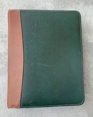 Classic Franklin Covey Quest Green Zip 7 - 1 58 Rings Genuine Leather Planner
