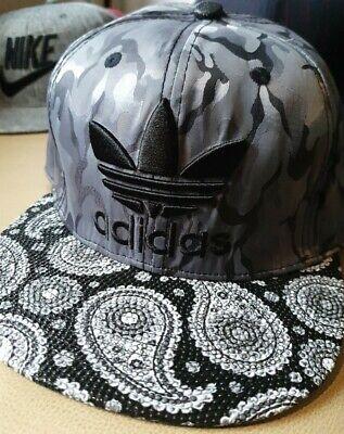 "Gray/White/Multicolor unique ""Adidas"" style Snapback hat"