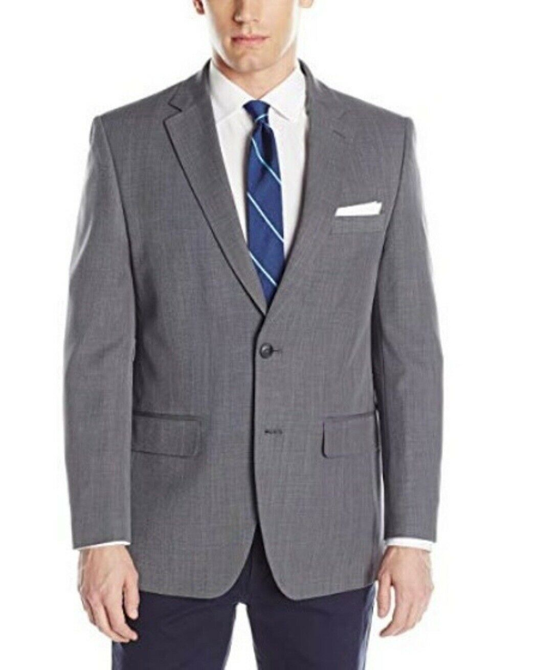 New Haggar Mens Travel Performance Tailored Fit Suit Separate Coat Grey 150