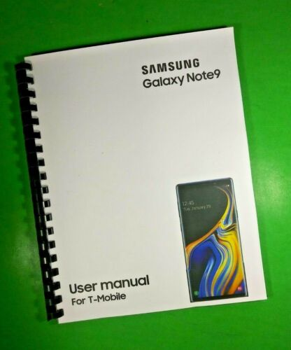"""LASER 8.5X11"""" Samsung Galaxy Note9 For T-Mobile Phone 188 Page Owners Manual"""
