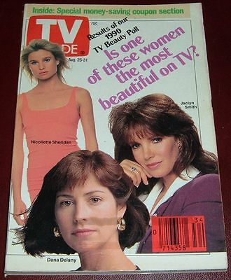 TV GUIDE~JACLYN SMITH~DELTA BURKE~KATHIE LEE GIFFORD~MELISSA BRENNAN