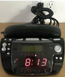Emerson Research CKT9087 Clock Phone Radio w/Smart Set Auto Dual Alarm Caller ID