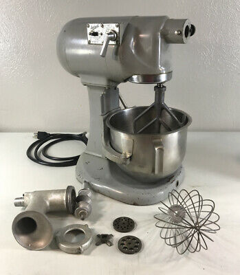 Hobart N50 5 Quart 3 Speed Mixer W Bowl And Attachments Including Grinder 115v