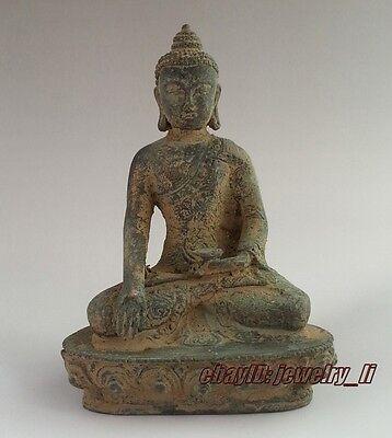 Collectable Old Bronze Handwork Auspicious Buddha Amitabha Sakyamuni Statue
