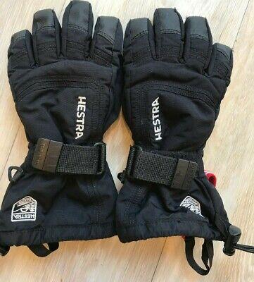 Hestra Gore-Tex Kids Ski Gloves, Size 4, Black