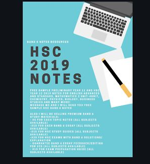 2019 NEW Syllabus HSC READY NOTES (All Subjects Available