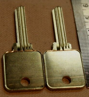 2 Uncut Blank Medeco Square Headed Generic Keys For 1 Price