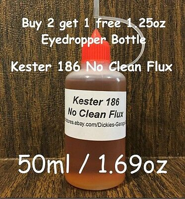 50ml1.69oz Needle Tip Bottle Kester 186 Rosin No Clean Flux For Xbox Reflow