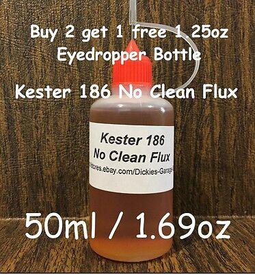 50ml1.69oz Needle Tip Bottle Kester 186 Rosin No Clean Liquid Flux For Reflow