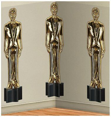 Hollywood Themed Backdrop (Awards Night Trophy Prom Hollywood Theme Party Wall Decoration)