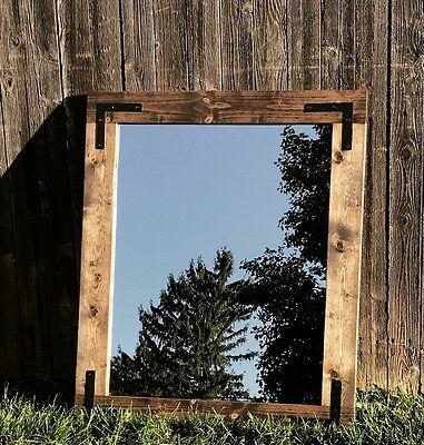 Handmade Rustic Mirror 24x30, Bathroom Mirror, Farmhouse Mir