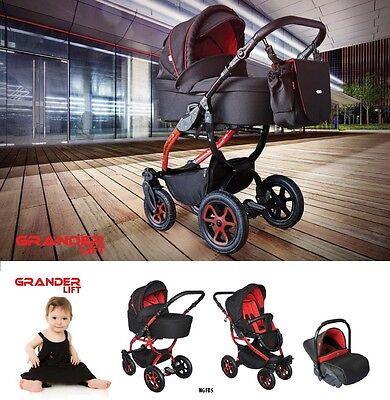 - Baby Pram Pushchair Buggy Stroller Grander Lift, Car Seat, Travel System 3 in 1
