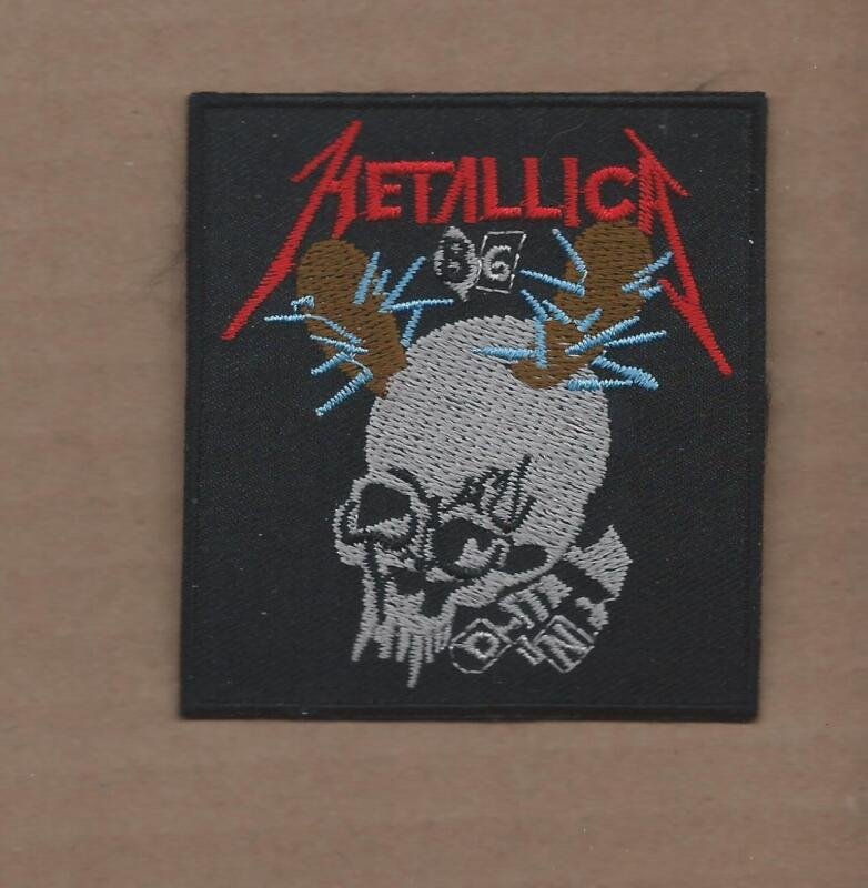 NEW 2 7/8 X 3 1/8 INCH METALLICA IRON ON PATCH FREE SHIPPING 2