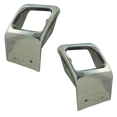 Chrome Exhaust Surround tailpipe tips trim finishers Range Rover Evoque Dynamic
