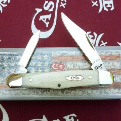 Case XX Cutlery Half Whittler Pocket Knife Stainless Steel Blade Bone Handle
