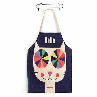 Cute Cat Japanese Style Lovely Apron Funny Cotton Woman Bib Chef Kitchen Aprons