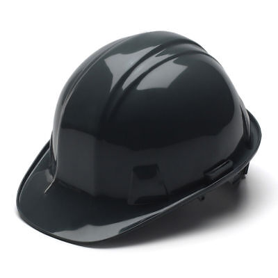 Pyramex Hard Hat Black Cap Style With 4 Point Ratchet Suspension Hp14111