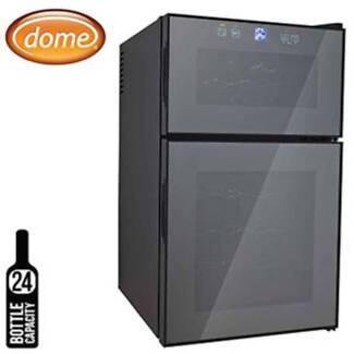 Dome 24 Bottle Wine Cooler with Dual Zone, 68L, Mirror Glass Door Thornleigh Hornsby Area Preview