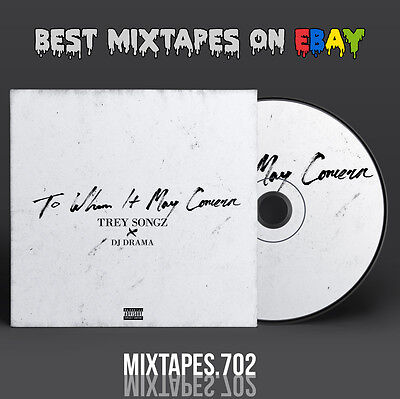 Trey Songz   To Whom It May Concern Mixtape  Cd Front Back Cover